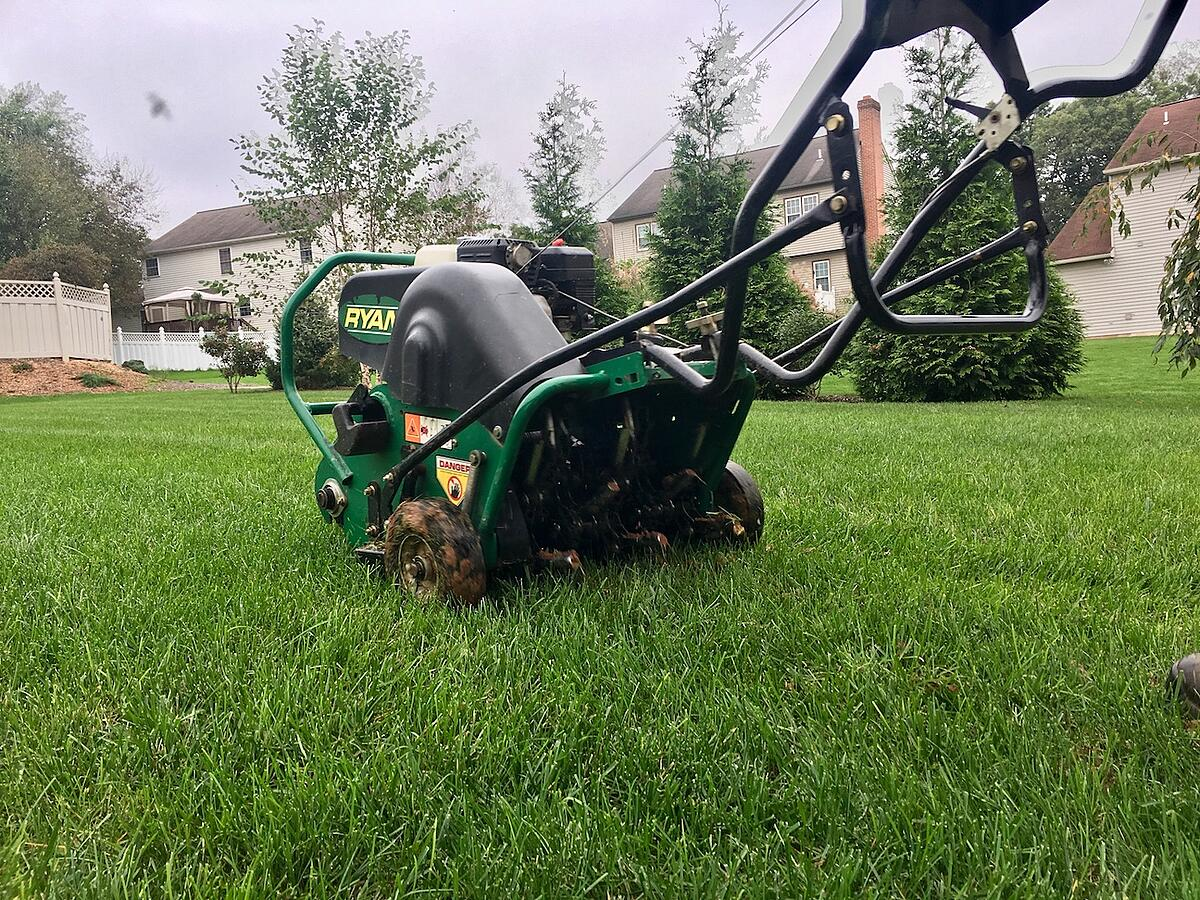 lawn aeration in fall
